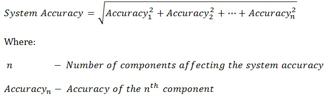 System accuracy equation